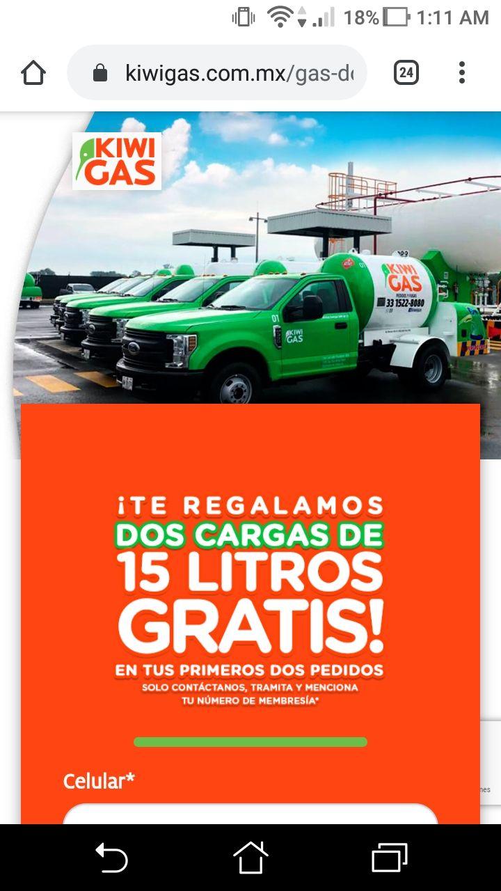 Kiwi Gas: 30 lts GRATIS de gas para tanque estacionario en ZMG