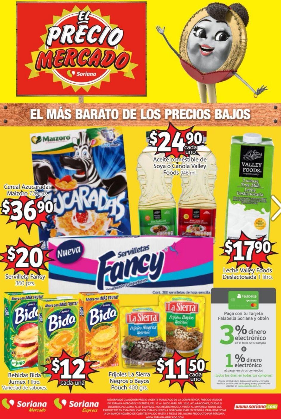 Soriana Mercado y Express: Folleto de Ofertas Quincenal del Viernes 17 al Jueves 30 de Abril