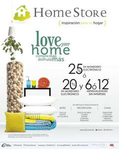 The Home Store: 25% en monedero o 20% en monedero y 6 o 12 MSI
