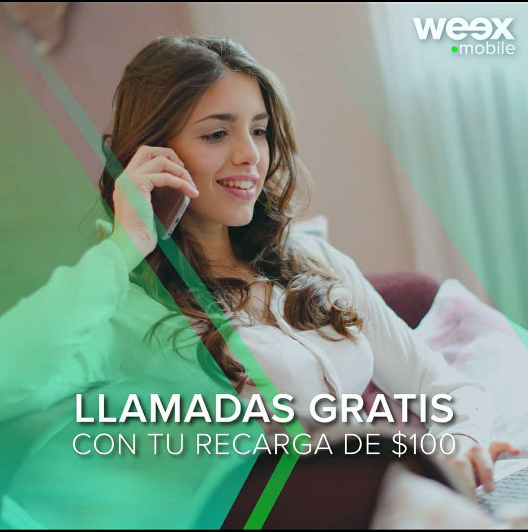 Weex: recarga $100 y recibe gratis paquete de llamadas ilimitadas por 30 días