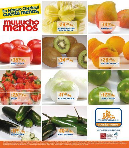 Miércoles de frutas y verduras en Chedraui febrero 6: tomate $4.50, papaya $8.50 y +9