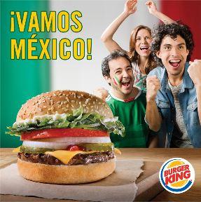 Burger King: Whopper Jr gratis comprando papas si México gana en eliminatorias