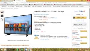 "Amazon LG 43LH5700 Smart TV 43"" LED Full HD $,6999.00 (5949.00 con SALDAZO ahora si)"