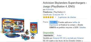 Amazon: Skylanders SuperChargers Starter Pack para Playstation 4 a $351.28