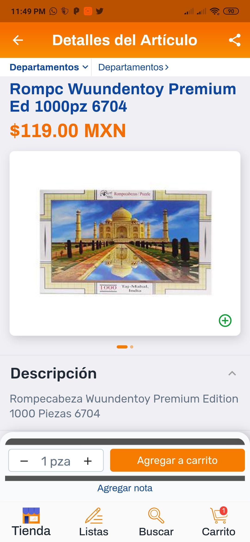 Chedraui en línea: Rompecabezas Wuundentoy 1000 piezas Taj-Mahal