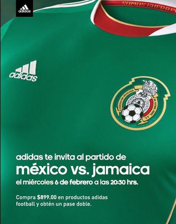 Varias tiendas: pase doble para México vs Jamaica comprando artículos Adidas