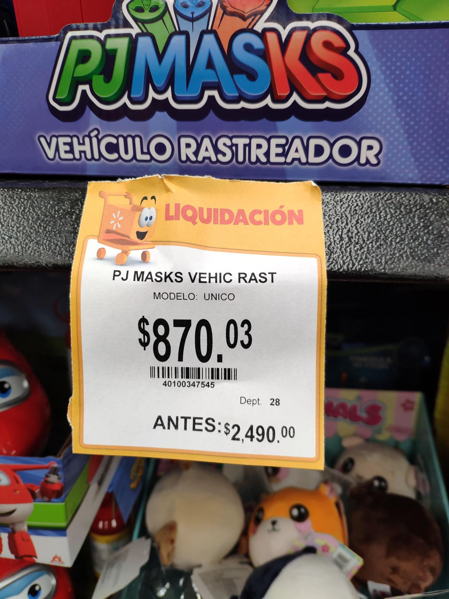 Walmart: PJ Masks Vehículo Rastreador