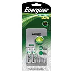 Office Depot: Cargador De Pilas Energizer Maxi de 4 Pilas AA o AAA