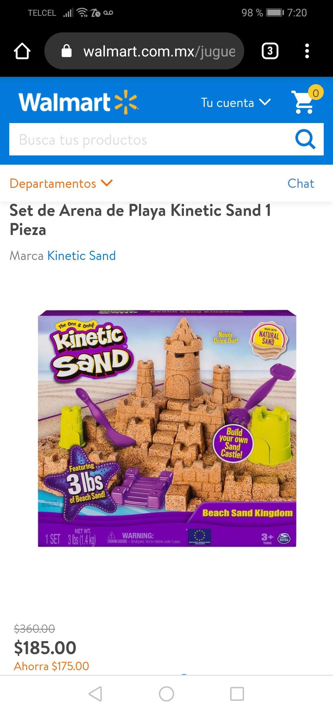 Walmart en línea: Set de Arena de Playa Kinetic Sand 1 Pieza