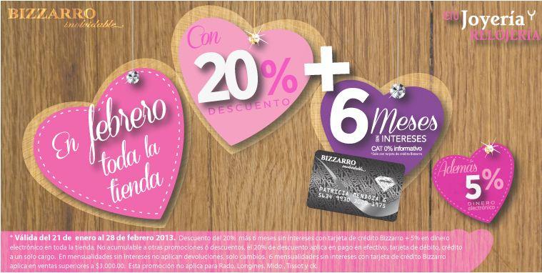 Joyerías Bizzarro: 20% de descuento en toda la tienda