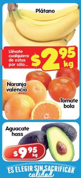 Frutas y verduras en HEB: tomate y plátano $2.95 y más