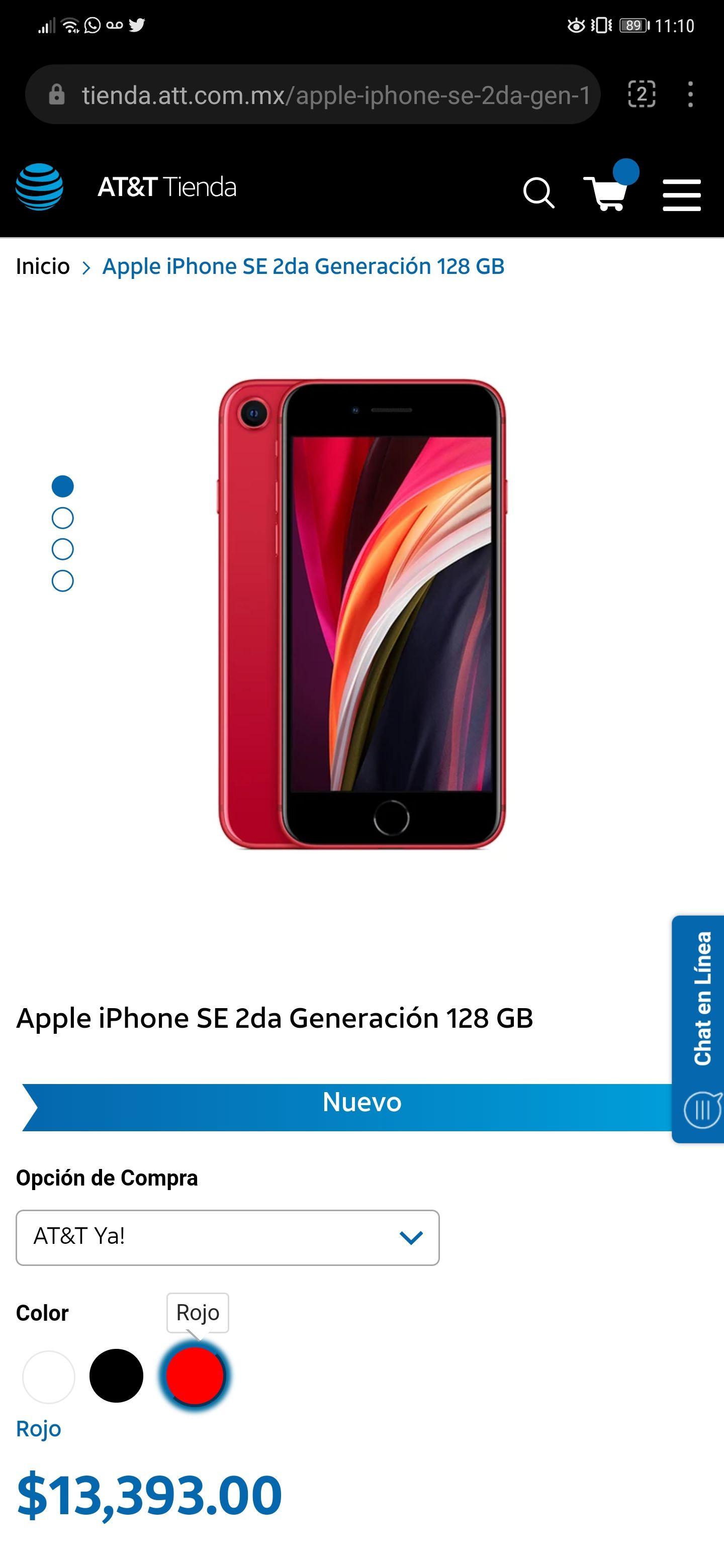 IPhone SE de 2a generacion CON UN AÑO DE SERVICIO!!!