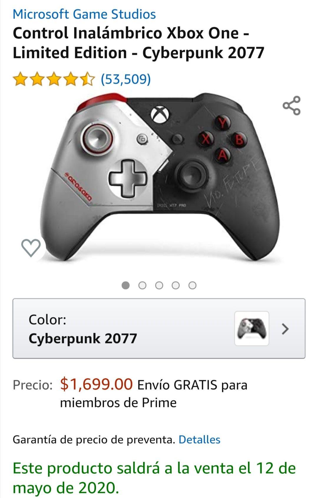 Amazon: Control xbox one edición especial cyberpunk 2077