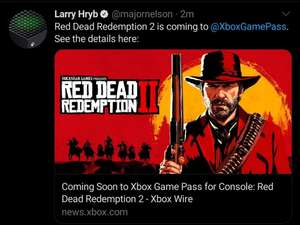 Red Dead Redemption 2 viene a Game Pass