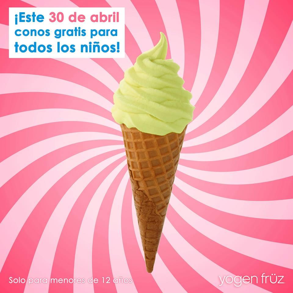 Yogen Früz: Cono gratis el 30 de Abril para todos los niños (hasta 12 años)