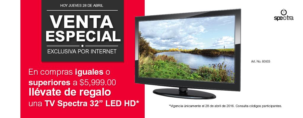 """Venta Especial Office Depot abril 28: TV de 32"""" LED gratis con compra mínima y más"""