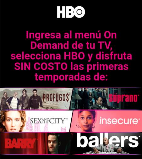 Algunas temporadas de HBO gratis en totalplay