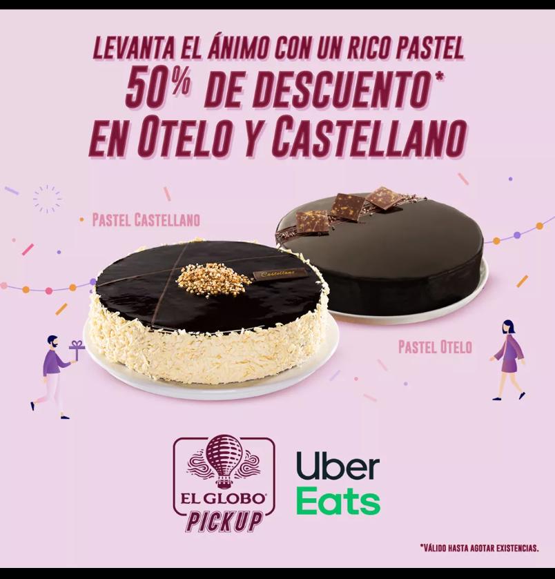 El Globo: 50% en la compra de pastel Otelo o Castellano mediante Uber Eats o el Globo PickUp