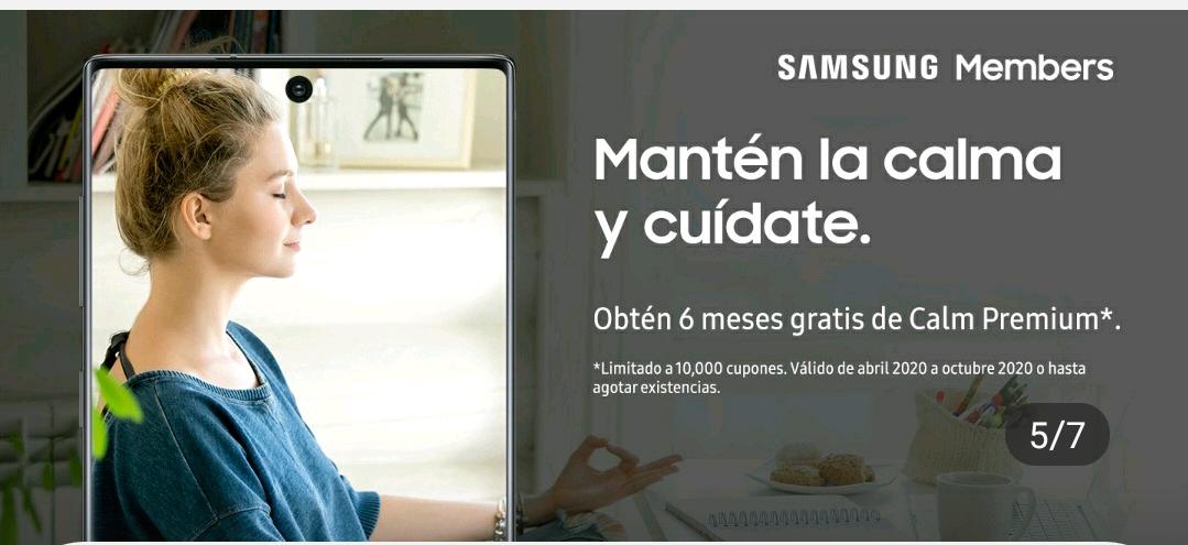 Calm premium por 6 meses para Samsung members