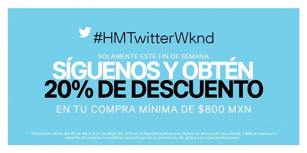 H&M: 20% menos mostrando Twitter