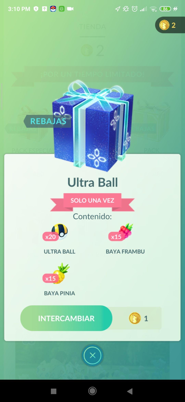Ultraballs - Pack de la semana Pokémon Go