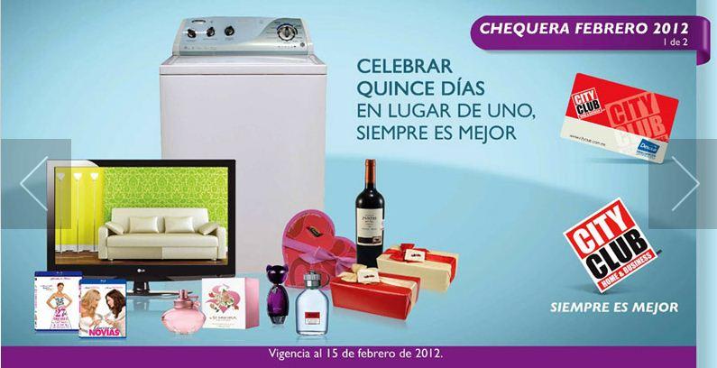 """Cuponera City Club febrero: TV LED LG 42"""" $7,039 y 20% menos en todos los perfumes y +"""