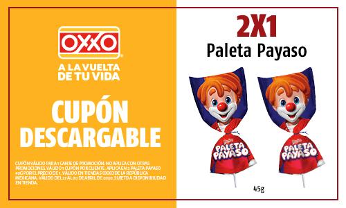 Oxxo: 2x1 Paleta Payaso