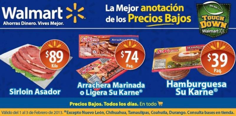 Fin de semana de frescura Walmart febrero 1: sirloin asador $89 y más