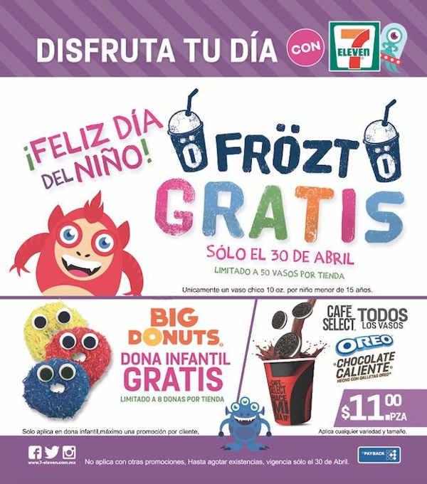 7 Eleven: Dona infantil gratis el 30 de abril (niños de hasta 15 años)