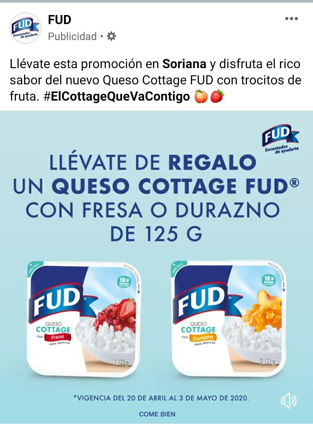 Soriana: Queso cottage gratis en la compra de un queso panela