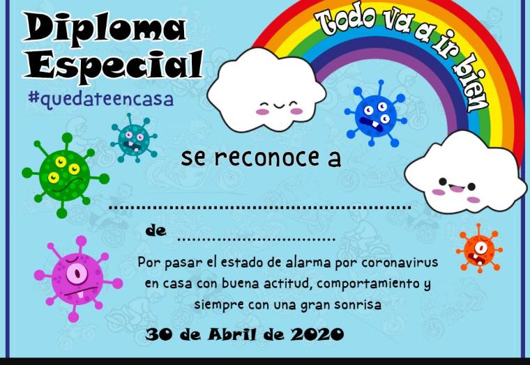 Gratis Diploma Especial #QuedateEnCasa