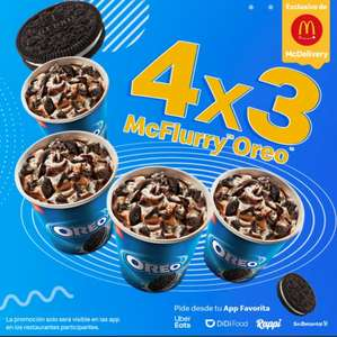 McDonald's: 4x3 McFlurry Oreo