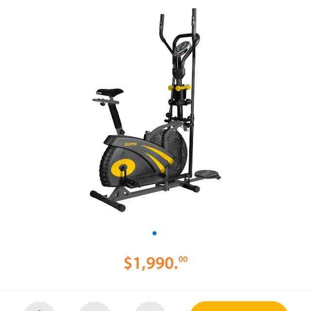 Walmart: bicicleta elíptica con Mancuernas BodyFit Pro a $1,990