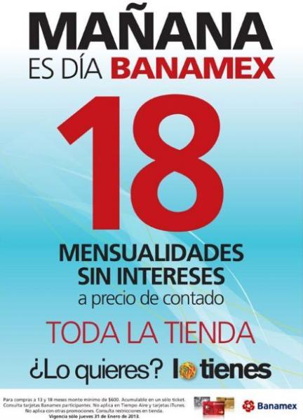 Día Banamex en OfficeMax enero 31
