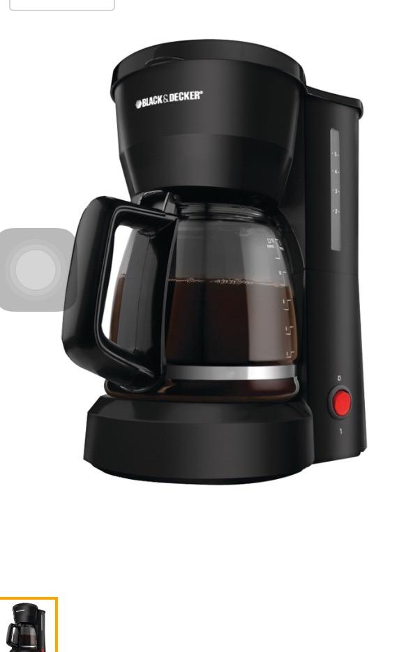 Amazon: cafetera Black & Decker DCM600B negra a $215.02