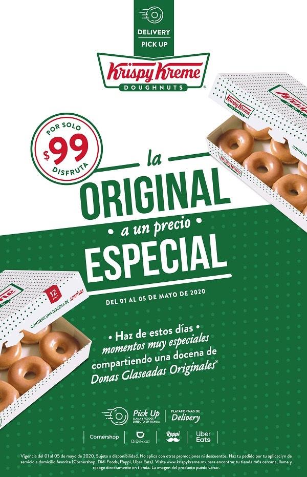 Docena original Krispy Kreme 1 al 5 Mayo
