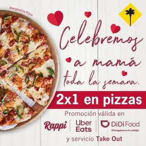 2x1 en pizzas en California Pizza Kitchen