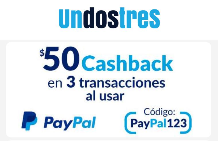 Undostres: $50 de Cashback en 3 pagos