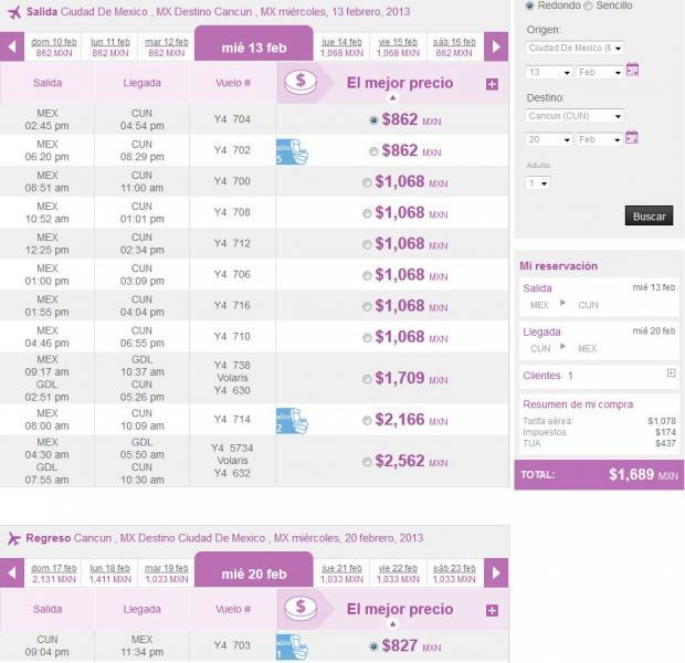 Volaris: viajes desde y hacia Cancún desde $799 en febrero