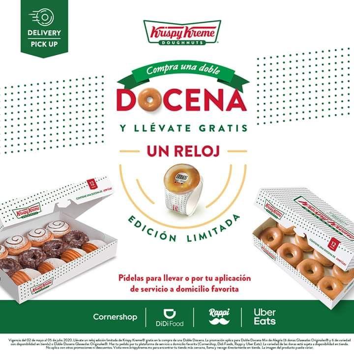 Krispy Kreme reloj gratis comprando doble docena