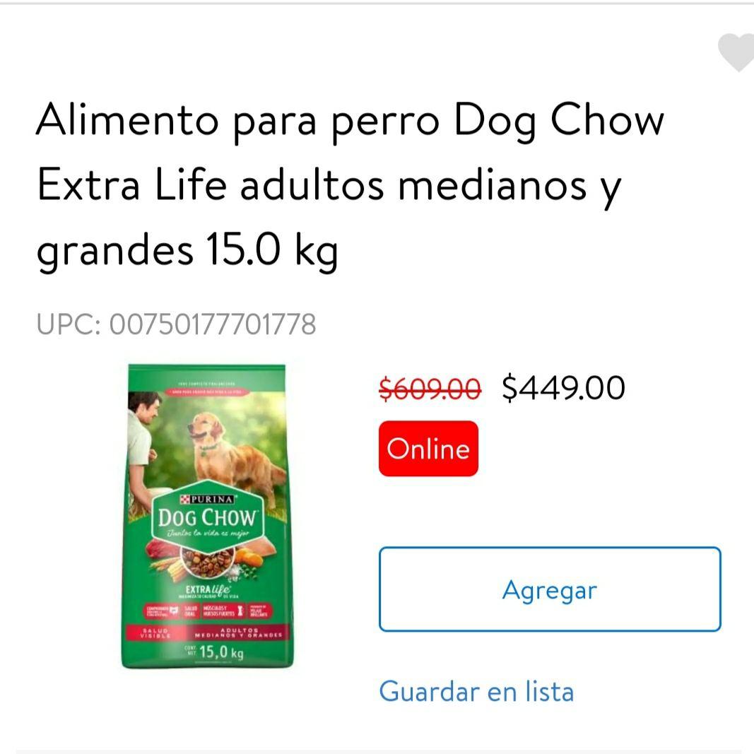 Walmart Alimento para perro Dog Chow 15.0 kg
