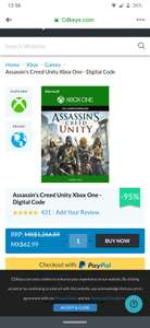 Assassin's Creed unity 95% descuento en cd keys para xbox one