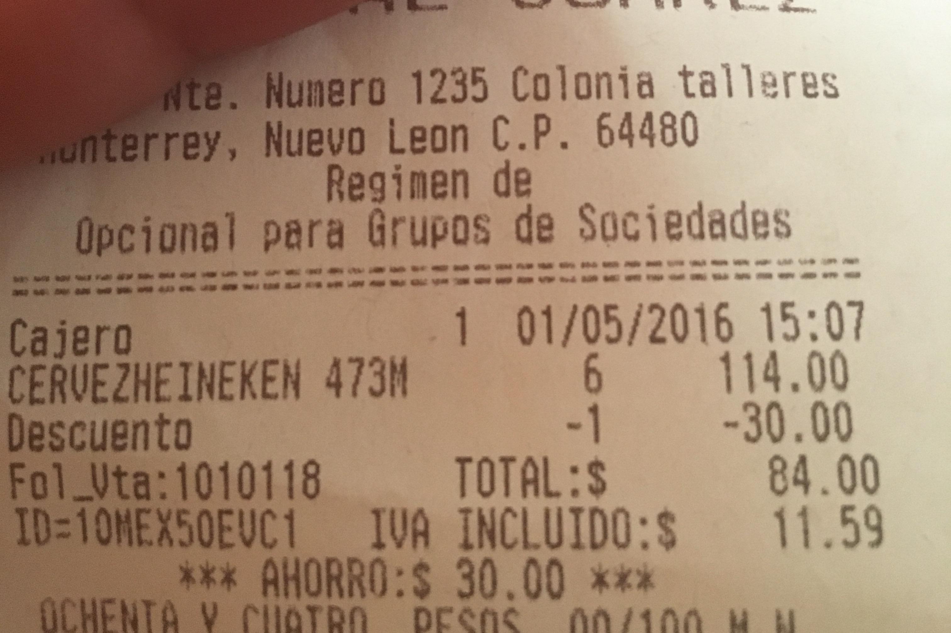 Oxxo: Cerveza Heineken Six de 473 ml a $84