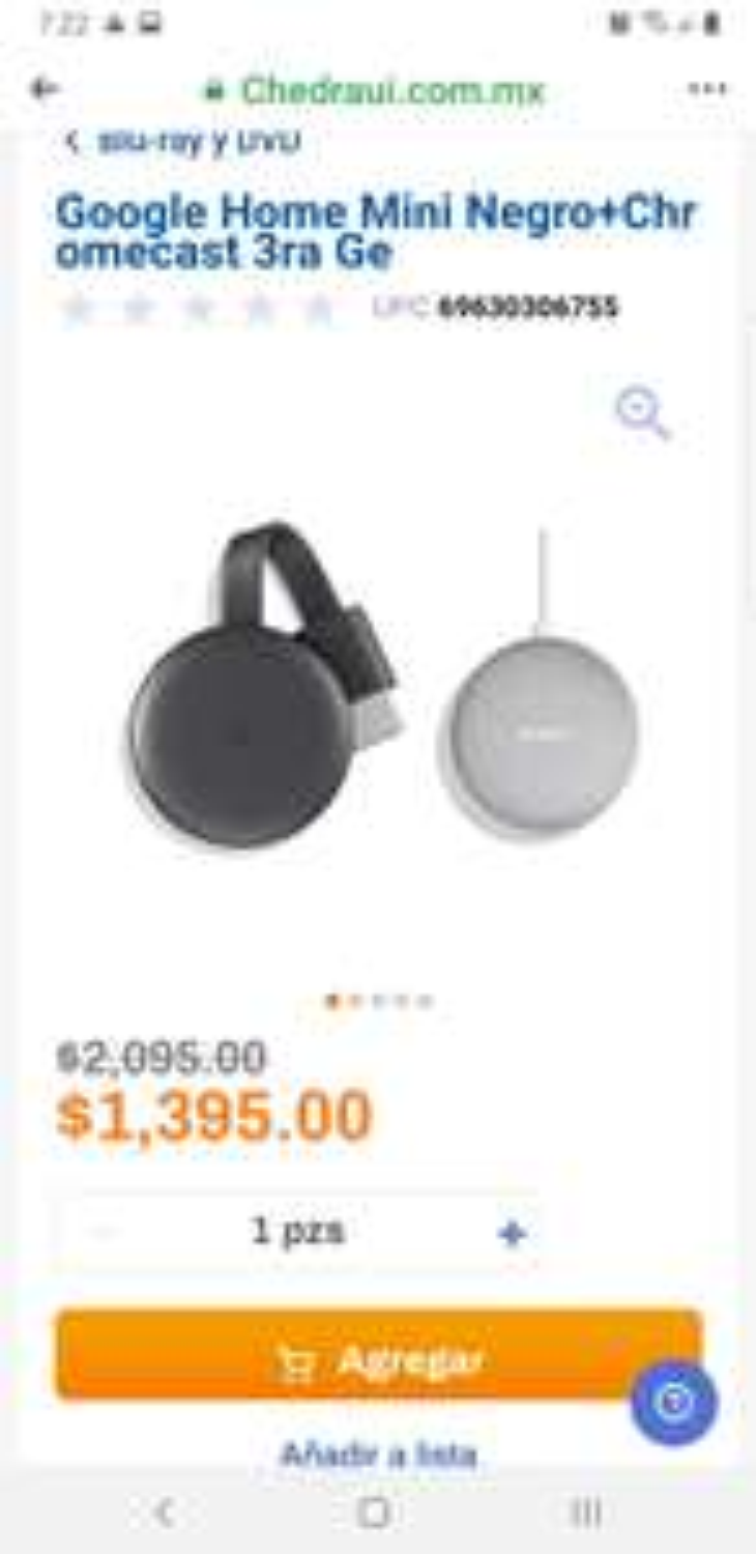 Chedraui: Google Home Mini Negro+Chromecast 3ra Generación