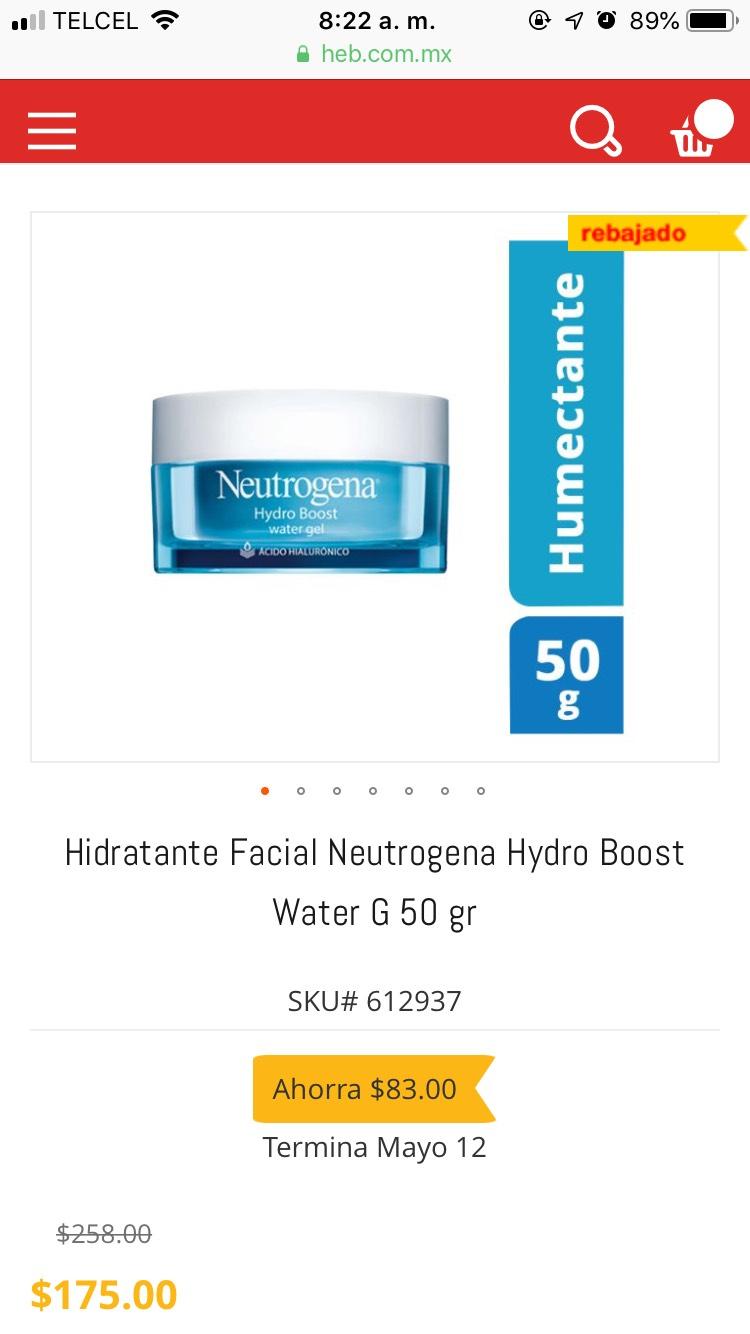 Heb: 30% de descuento Neutrogena Hydro Boost
