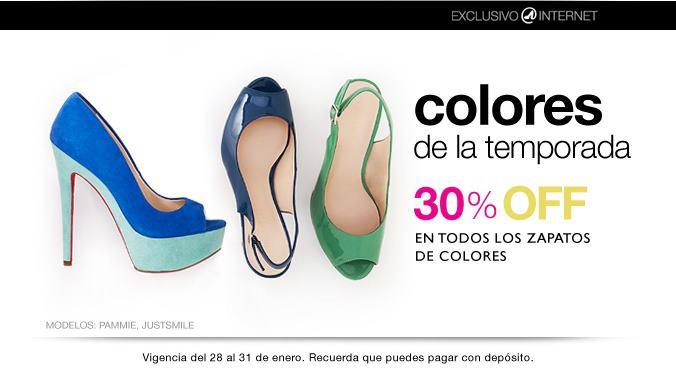 Nine West: 30% de descuento en zapatos de colores