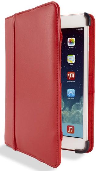 Amazon MX: Funda de piel roja para Ipad Mini, Marca Cyber Acoustics, $48.59 + envío $73.12