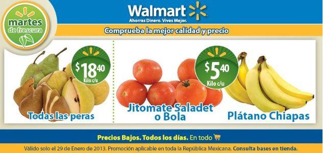Martes de frescura Walmart enero 29: plátano $5.40, pollo entero $19.70 y +