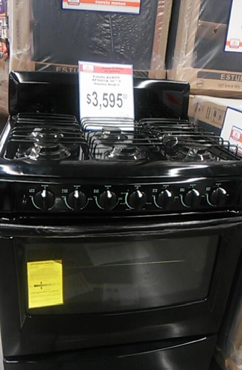 Chedraui: estufa acros de 6 quemadores $3,595