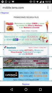 Cupones de descuento en Carls Jr, Yogmov, Domino's Pizza, Wings Army y Café Diletto